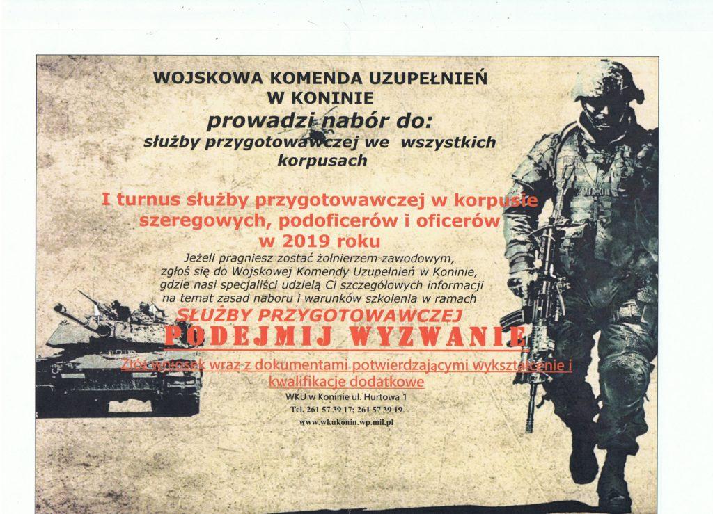 WKU w Koninie prowadzi nabór do służby przygotowawczej we wszystkich korpusach