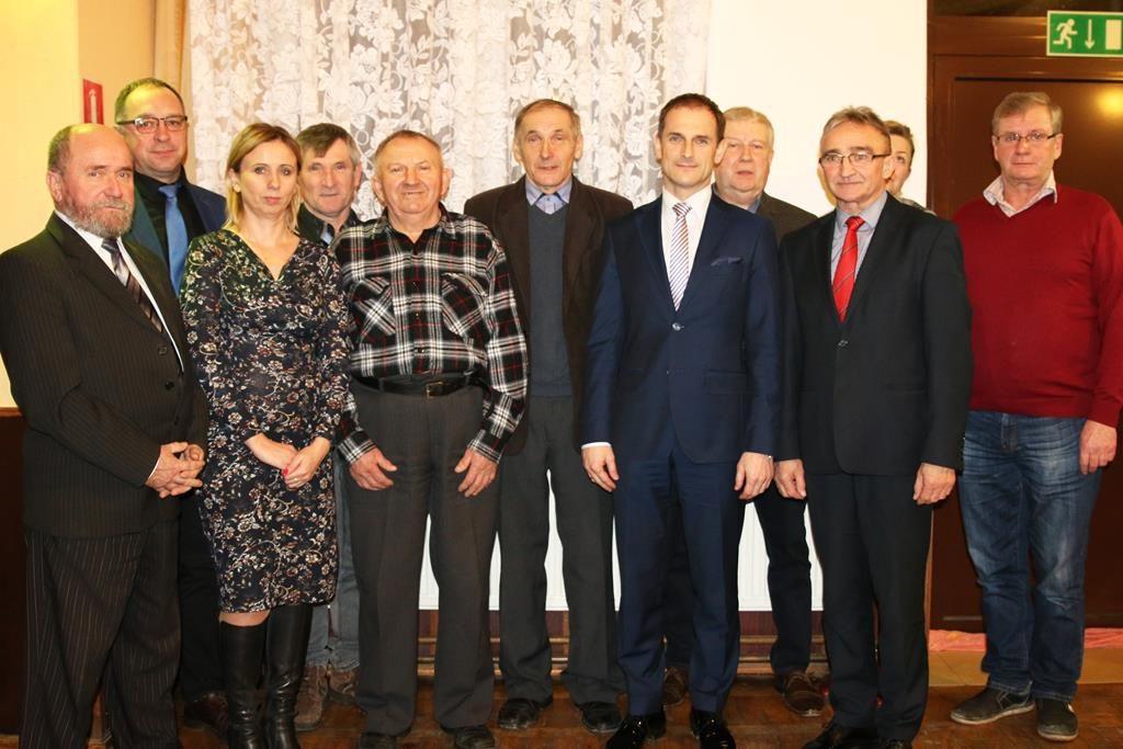 Zebranie wiejskie w Kozarzewku