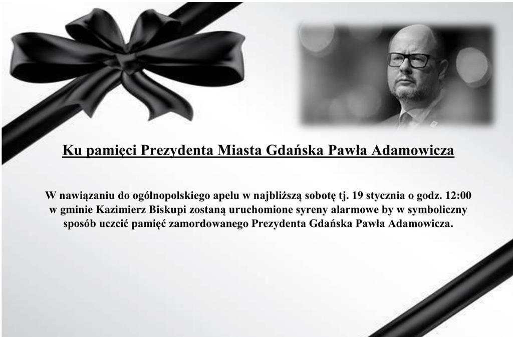 Syreny dla śp. Pawła Adamowicza