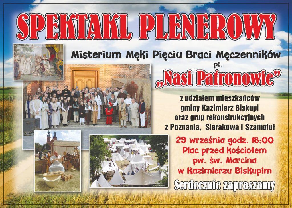 """SPEKTAKL PLENEROWY """"NASI PATRONOWIE"""""""