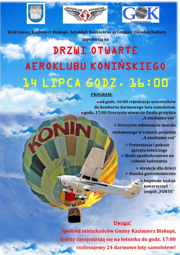 Aeroklub Koniński otwiera swoje wrota już w najbliższą niedzielę