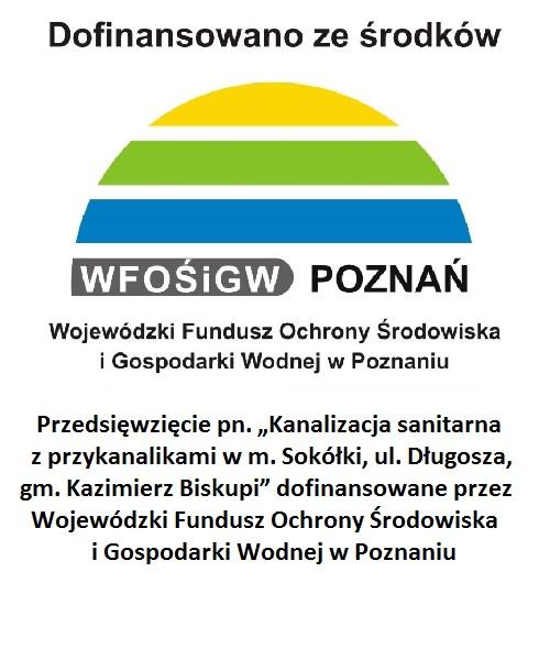 Informacja o dofinansowaniu przez WFOŚiGW
