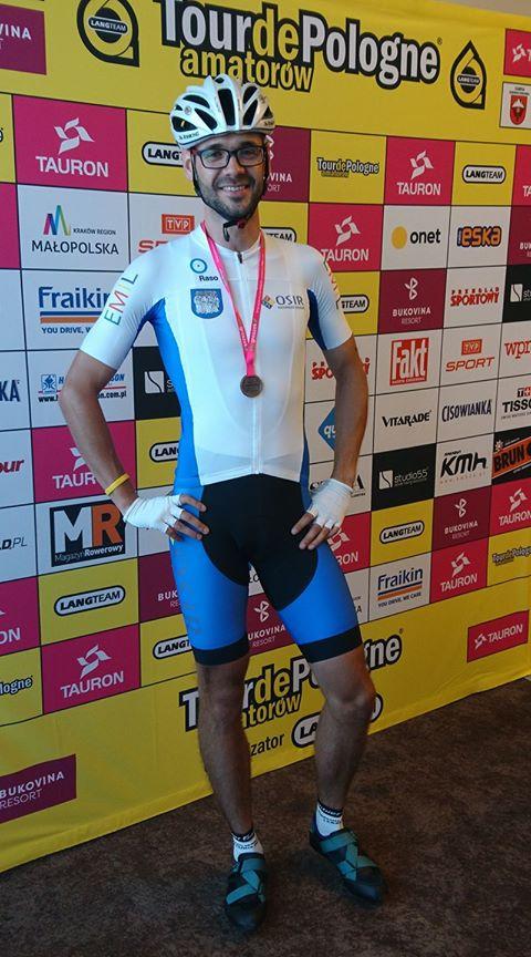 Mieszkaniec Kazimierza Biskupiego na Tour de Pologne 2017