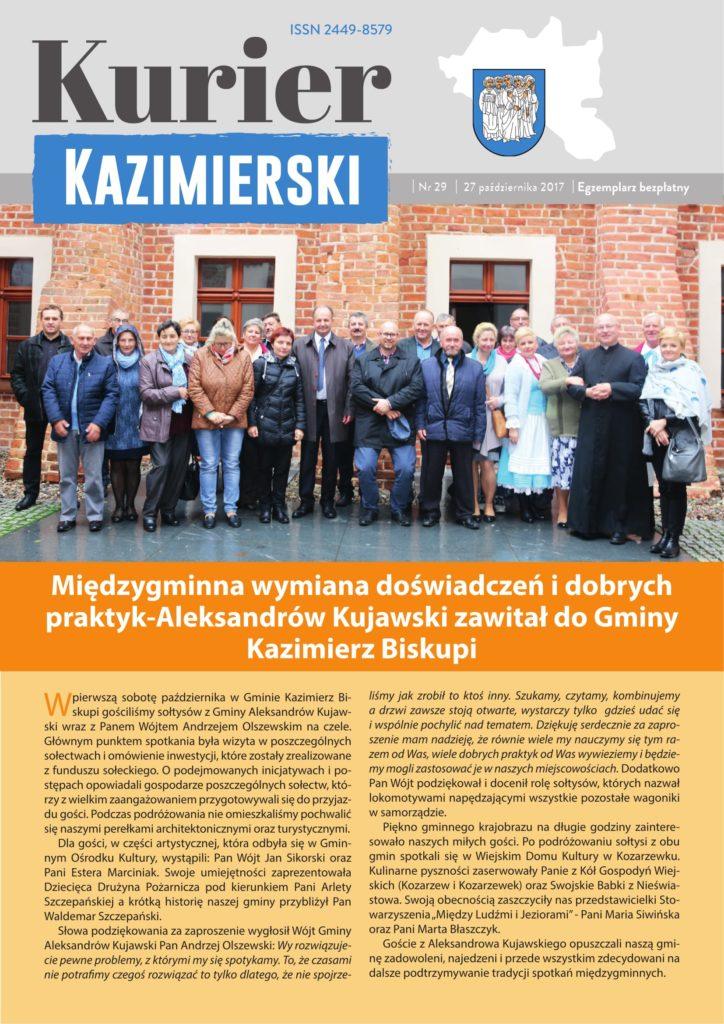 Październikowy numer Kuriera Kazimierskiego jutro zawita do sklepów na terenie Gminy Kazimierz Biskupi. Zapraszamy do lektury