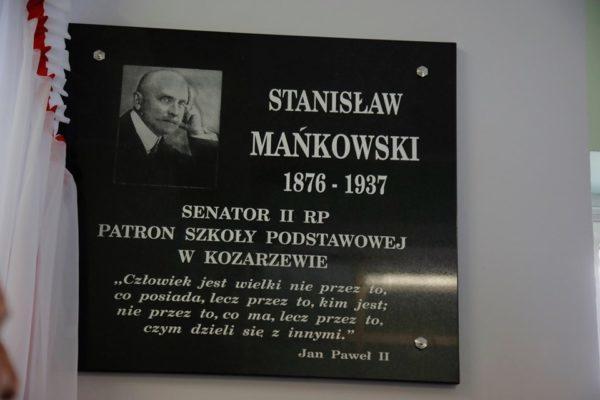Stanisław Mańskowski patronem Szkoły Podstawowej w Kozarzewie