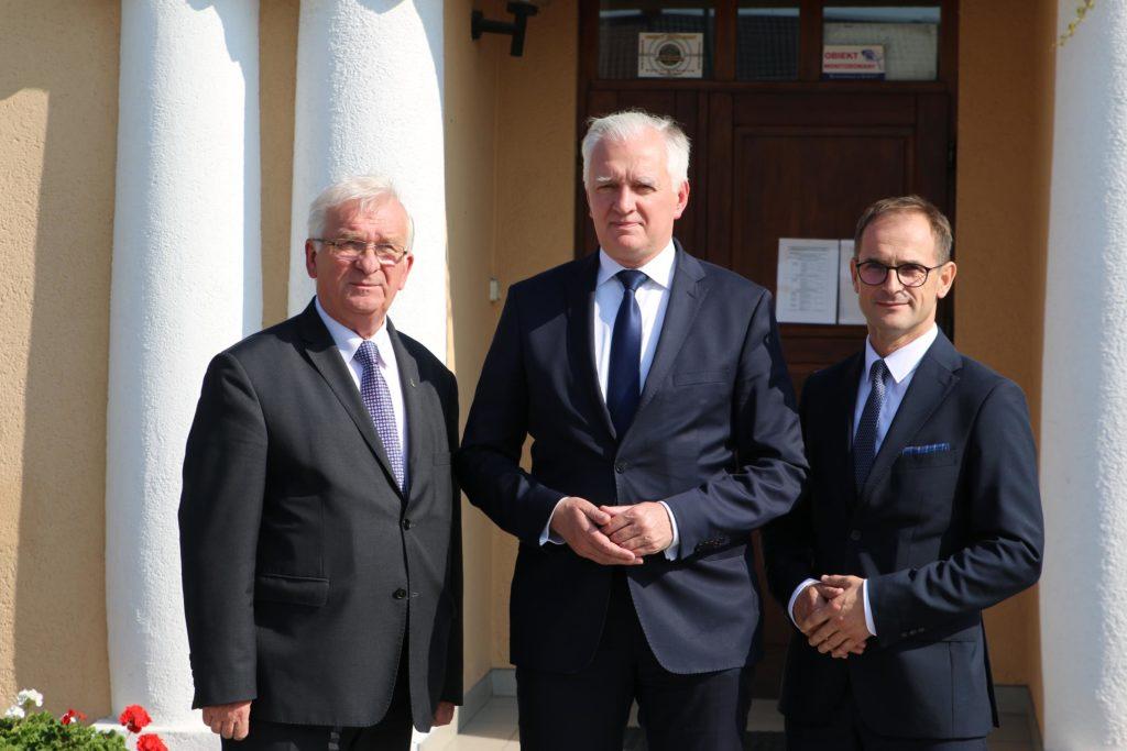 Wicepremier Jarosław Gowin z wizytą w Kazimierzu Biskupim