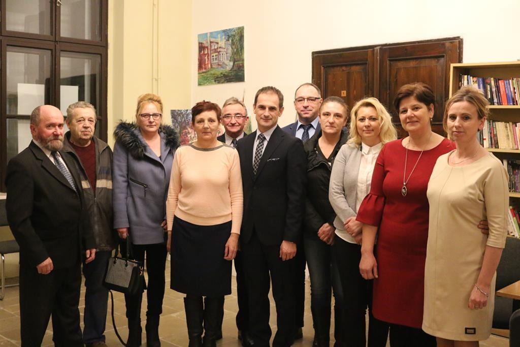 Zebranie wiejskie w Woli Łaszczowej
