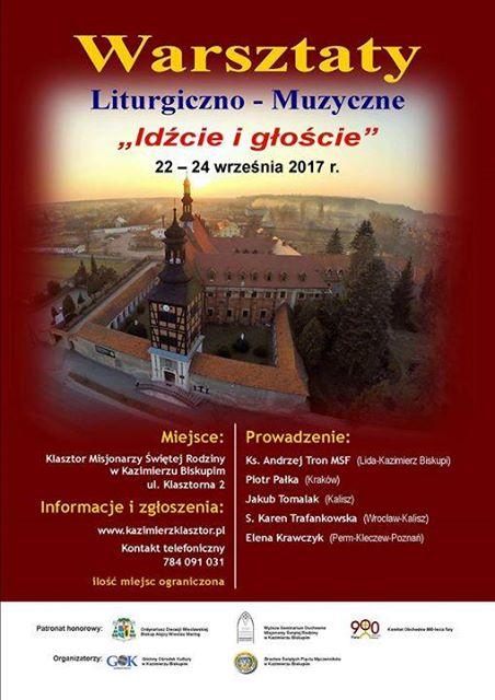 Warsztaty liturgiczno-muzyczne już w najbliższy weekend