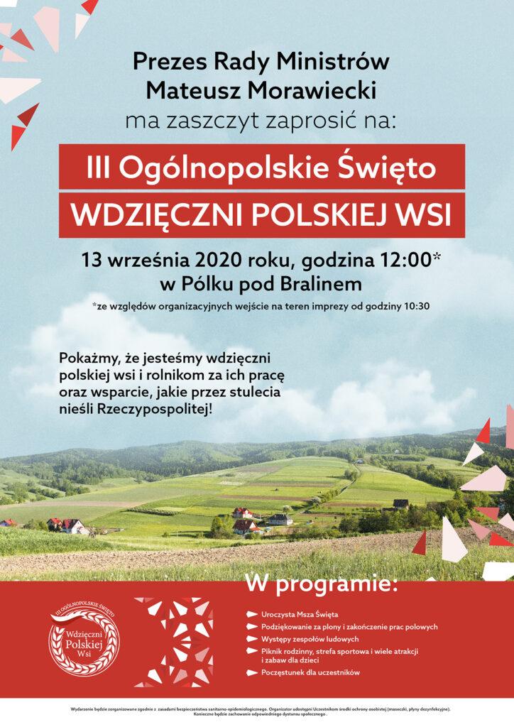 """III Ogólnopolskie Święto """"WDZIĘCZNI POLSKIEJ WSI"""""""