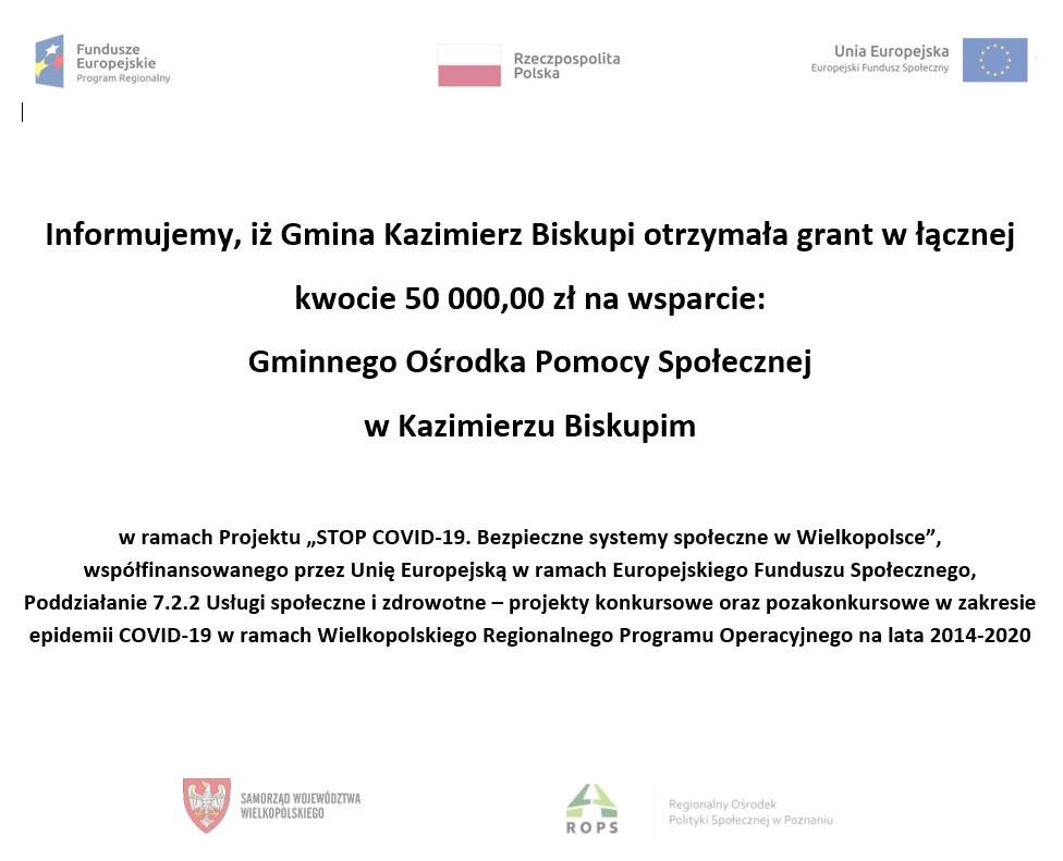 Informacja o powierzeniu grantu w wys. 50 000zł